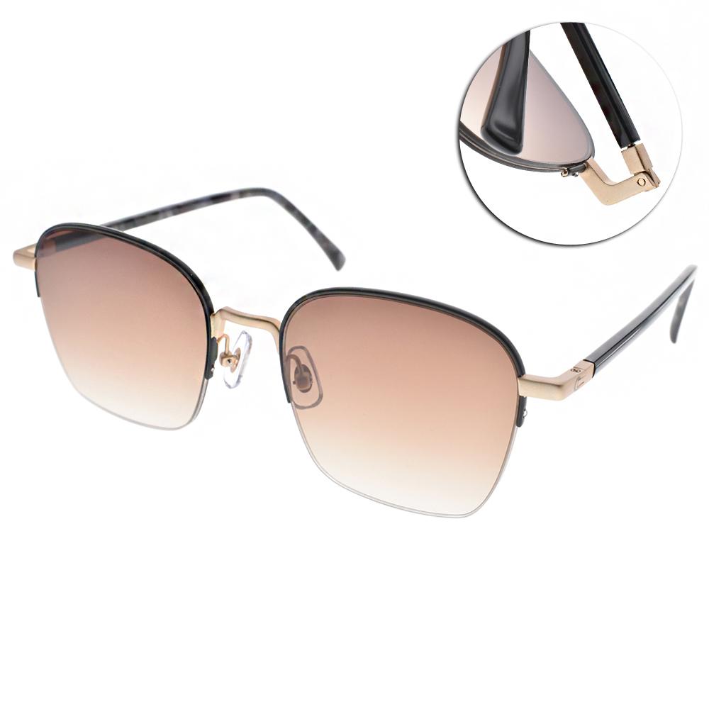 STEALER太陽眼鏡 造型半框/黑-金#VINCENT C08