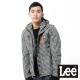 Lee 防風外套 雙層棉布連帽格紋設計 -男