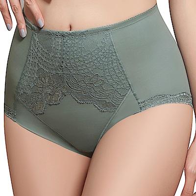 思薇爾 挺美力系列M-XXL蕾絲高腰三角修飾褲(倫敦灰)