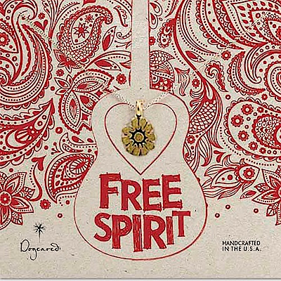 Dogeared Free Spirit 自由靈魂系列 向日葵 金色項鍊 附原廠盒