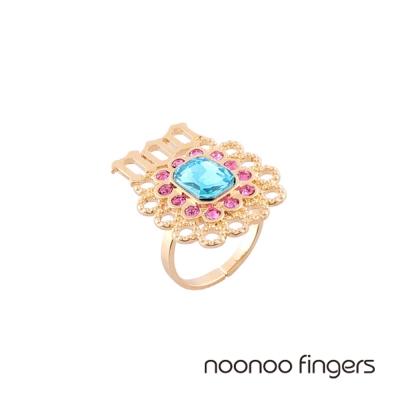Noonoo Fingers Noogem Noo寶石水鑽簍空戒指