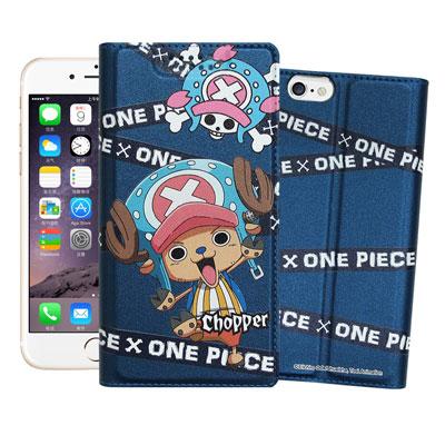 日本正版航海王iPhone 6s / 6 plus 5.5吋彩繪磁力皮套(封鎖喬巴)