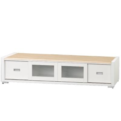 品家居 夏卡爾6.4尺石面長櫃/電視櫃(兩色可選)-193x46x42cm-免組