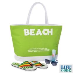 LIFECODE-BEACH防水大沙灘袋/購物袋/健身袋-2色可選