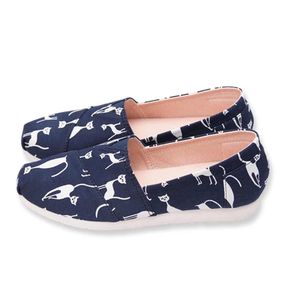 FUFA  MIT 小夜貓懶人鞋 (FS03) -藍色