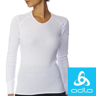 瑞士【Odlo】190881 女銀離子V領保暖衛生衣(白)