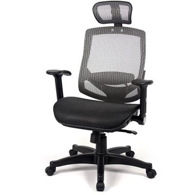 【aaronation】愛倫國度 - 舒適全透氣電腦網椅(908A-灰)