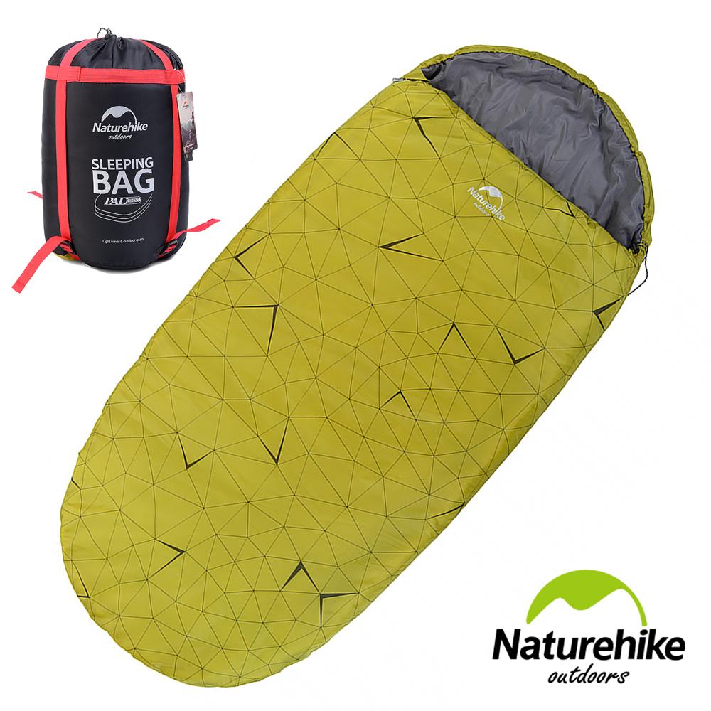 Naturehike 抗寒保暖 加大加厚亮彩圓餅單人睡袋 果綠色 - 快速到貨