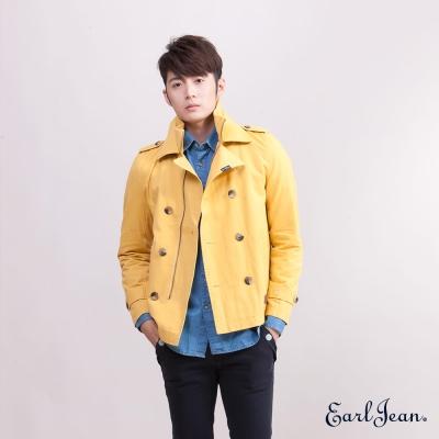 Earl Jean排扣立領 Jacket-黃