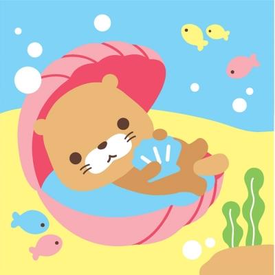 LOVIN 超萌韓版數字油畫 可愛貝殼海獺(2) 1幅