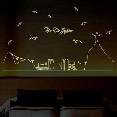創意螢光壁貼-熱情巴西