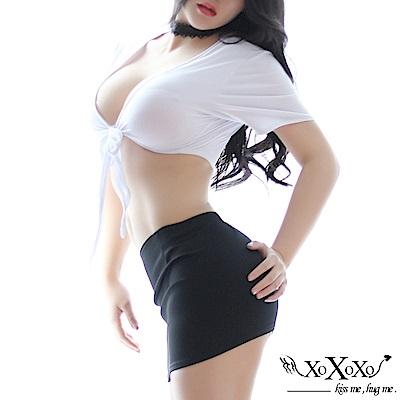 角色扮演 秘戀OL兩件式秘書角色服 挑逗黑 XOXOXO