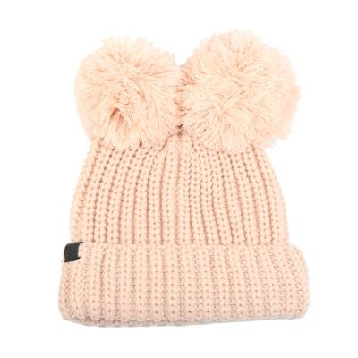 KARL LAGERFELD 時尚熱銷熊熊毛線帽(粉色)