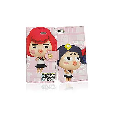 【摩達客】韓國Fabulous進口 麻吉Yola & Judy粉紅iPhone5手機皮套