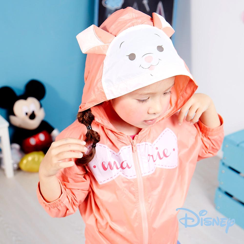 Disney俏皮瑪莉貓連帽風衣淺粉桔