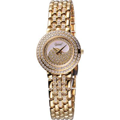 Ogival 愛其華太極雙環金采珠寶錶