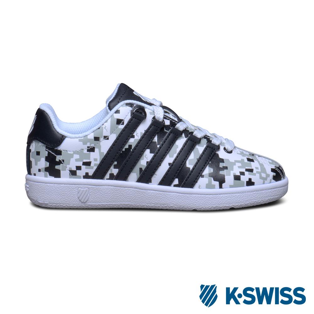 K-Swiss Classic VLC 經典休閒鞋-童-黑迷彩