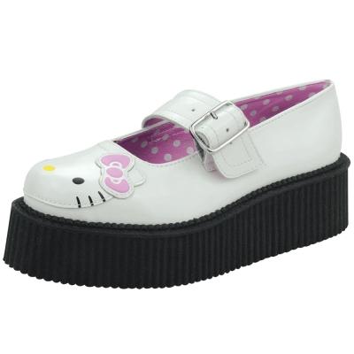 TUK+ HK 可愛凱蒂貓瑪麗珍鞋-白