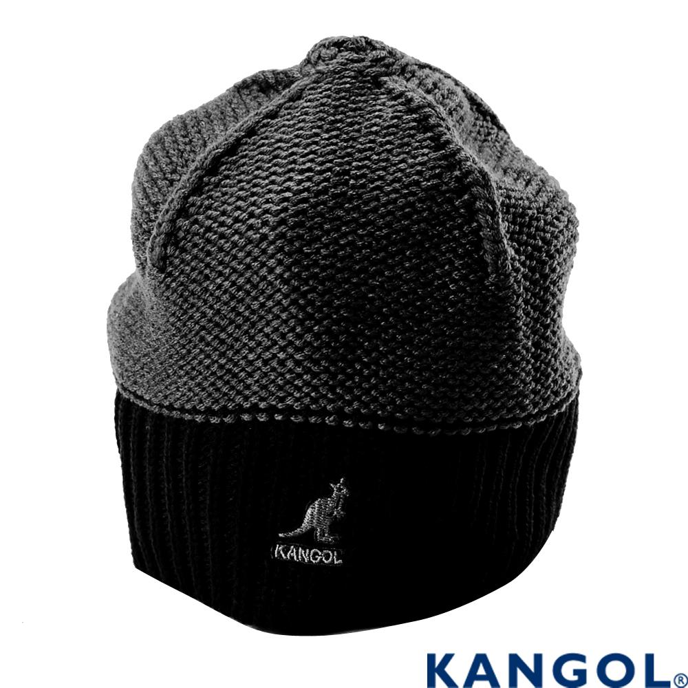 KANGOL 英國袋鼠-毛線帽-黑色