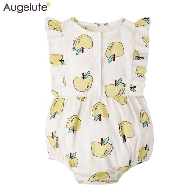 baby童衣 水果印花梭織背開扣包屁衣 61187