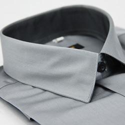 金‧安德森 灰色窄版長袖襯衫