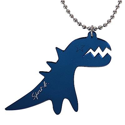 agnes b. SPORT b恐龍項鍊-藍