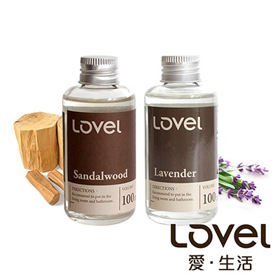 【超值舒壓76折】Lovel南法天然香氛擴香精油2入組(薰衣草+檀香)