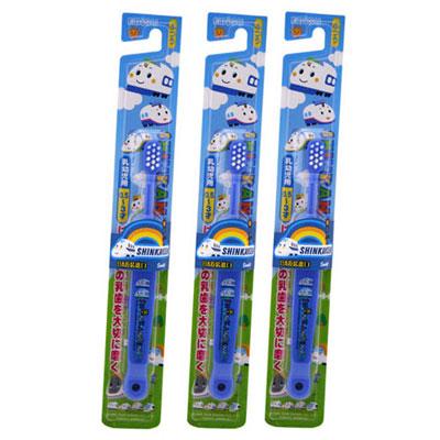 日本EBISU-新幹線0.5~3歲兒童牙刷×3入-顏色隨機