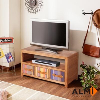 ALMI_BAYADERE-TV BUFFET 三抽電視櫃W86*D40*H50CM