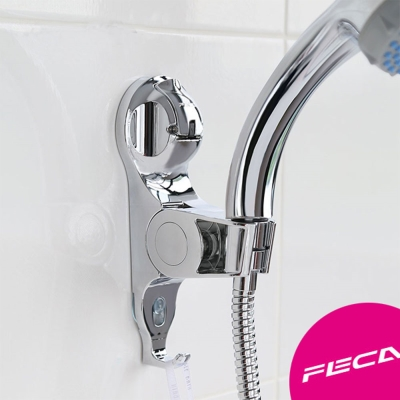 FECA非卡-無痕強力吸盤 武士可調式蓮蓬座(銀)