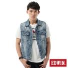 EDWIN 迷彩牛仔背心-男-石洗藍