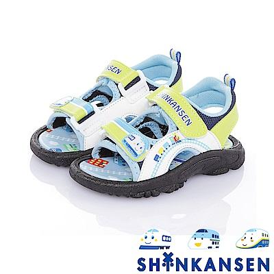 新幹線 舒適減壓防滑運動休閒涼鞋童鞋-白綠