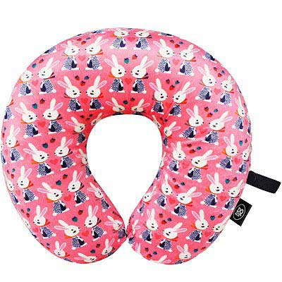 DQ U型護頸記憶枕(粉紅兔)