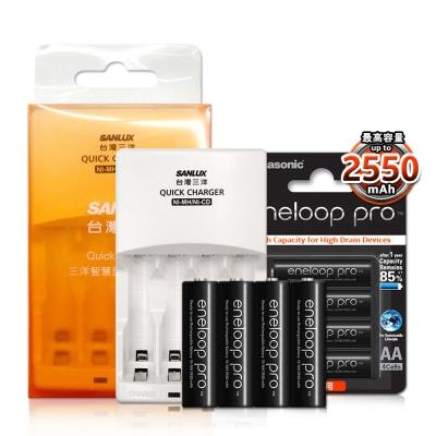 三洋智慧型充電器-國際牌黑鑽款eneloop-PR