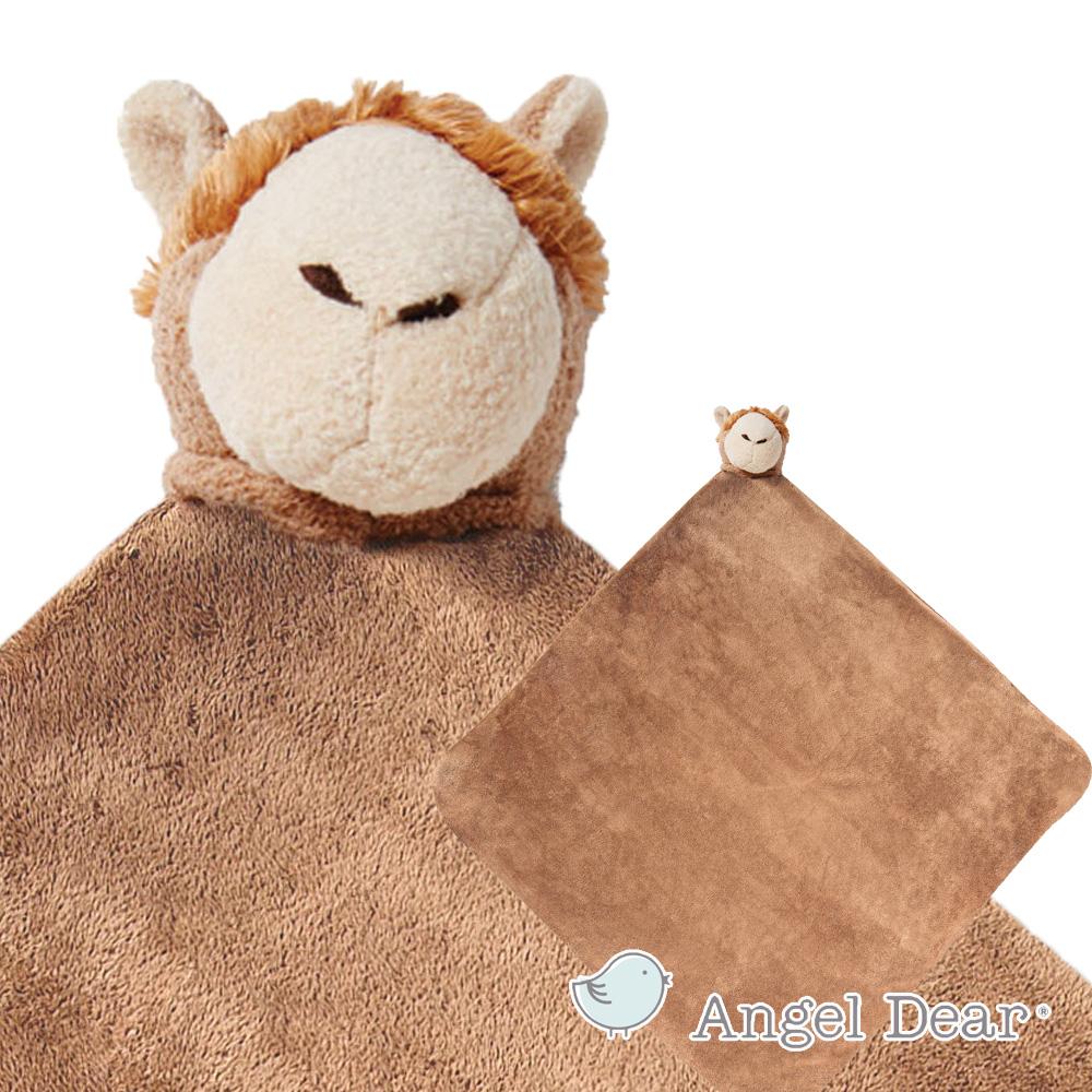 美國 Angel Dear 大頭動物嬰兒毛毯 (草尼馬)