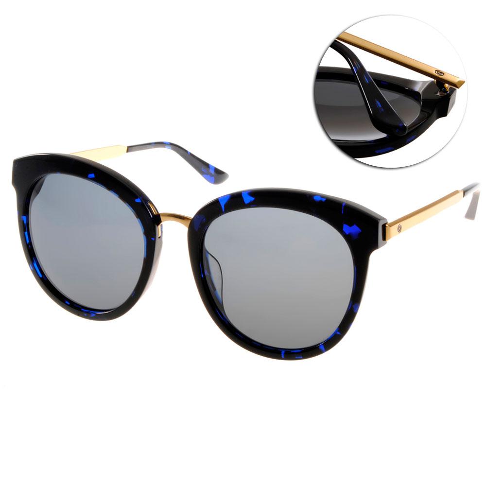 Go-Getter太陽眼鏡 韓系必備/藍琥珀-金#GS1020 BLDE