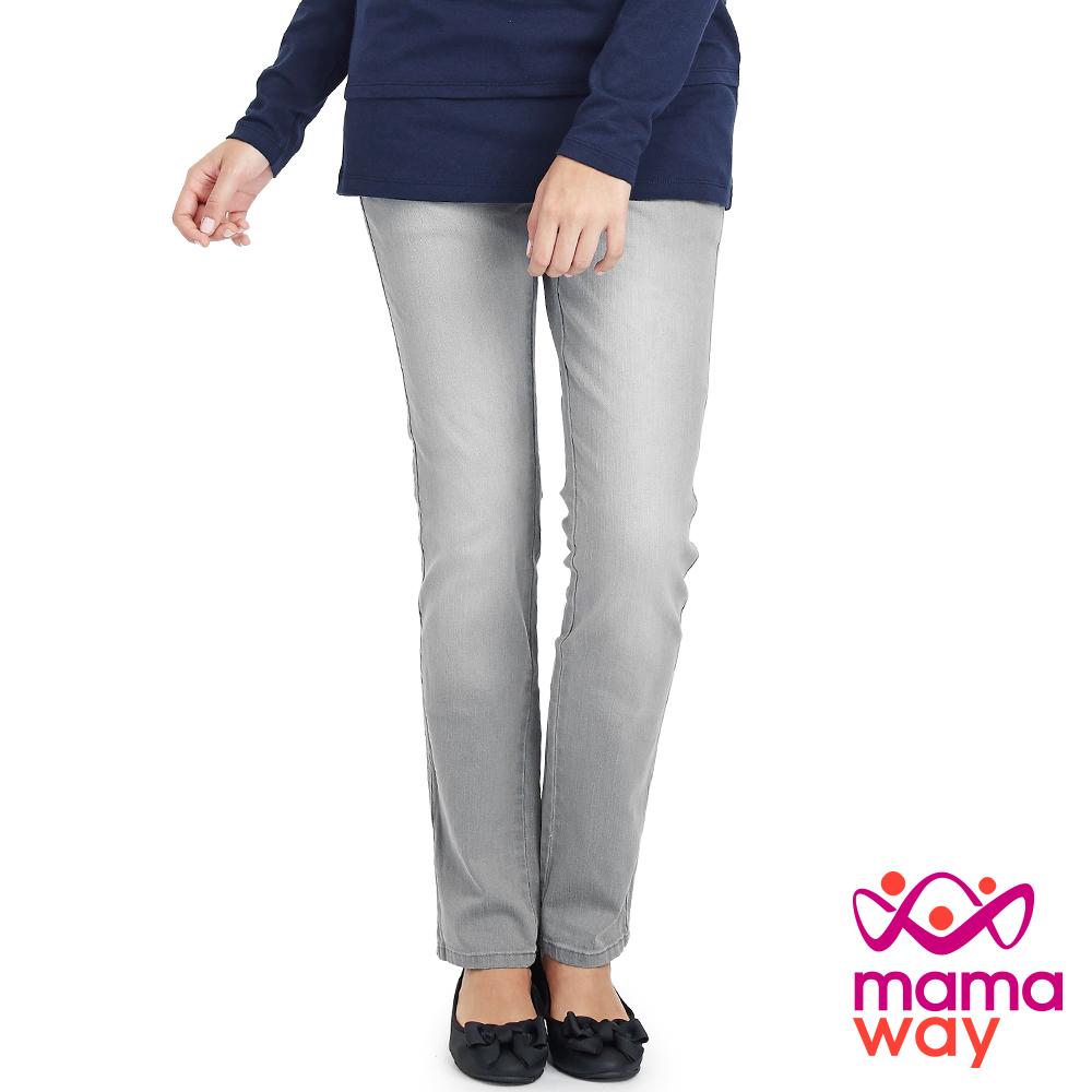 Mamaway 孕期孕婦窄管牛仔褲(共二色)