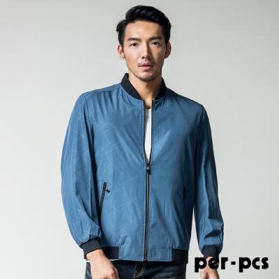 per-pcs  棒球領印花休閒外套_藍色(717953)