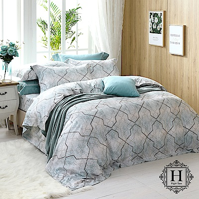 HOYA H Series羅恩格林 雙人四件式頂級400織刺繡匹馬棉被套床包組