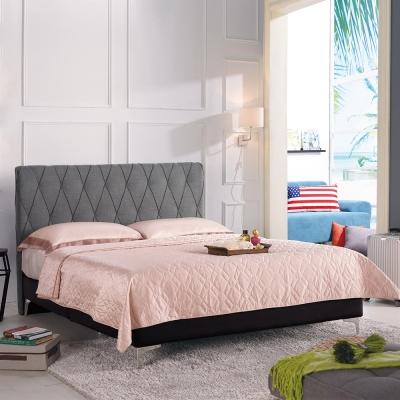 Boden-伊可6尺灰色雙人加大床組(不含床墊)