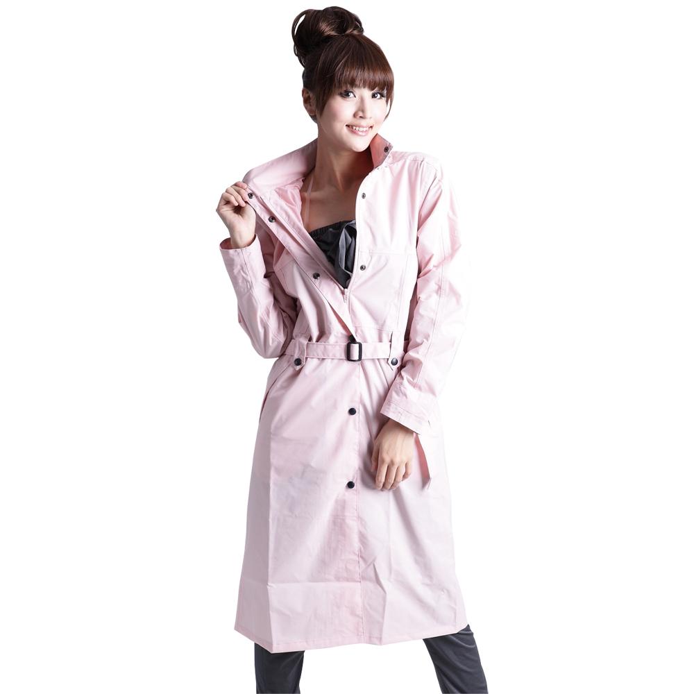 BrightDay風雨衣連身式 - MIT立領排釦大衣款