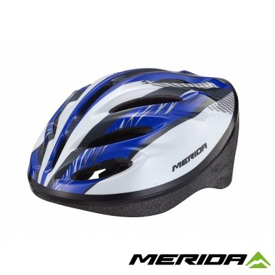 《MERIDA》美利達 MV-15通勤安全帽 藍/白 58~61cm 2277007613