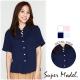 鈕扣短袖襯衫-共4色(M-XL適穿) 名模衣