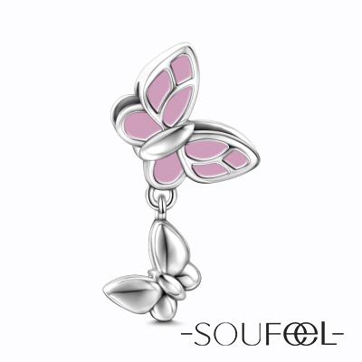 SOUFEEL索菲爾 925純銀珠飾 母女情深 吊飾