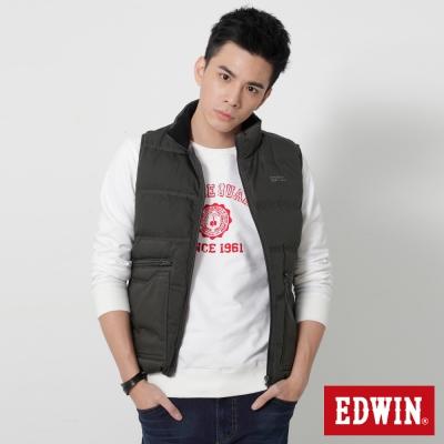 EDWIN雙口袋立領羽絨背心-男-暗灰