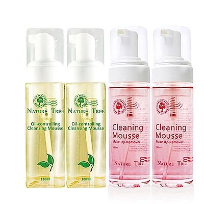 Nature Tree 控油潔顏雙星組-180mlX4瓶