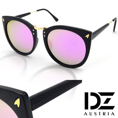 【2件59折】DZ 意象影矢 抗UV 偏光太陽眼鏡墨鏡(黑框紫粉膜)
