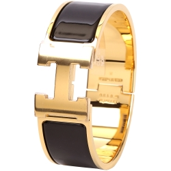 HERMES Clic Clac H 經典LOGO設計手環(PM/黑色)