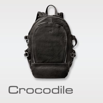 Crocodile 真皮後背包 Rocky系列(L)0104-07204