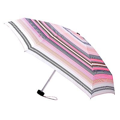 2mm Mini輕巧五折晴雨口袋手開傘 (粉彩條紋)